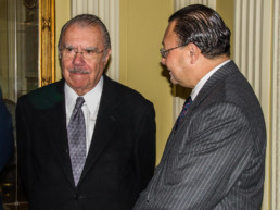 Madrid, España, 2015. Embajada de la República de Brasil. Presidente José Sarney, Andrés Cardó