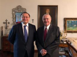 Brasilia, Brasil, mayo 2018. Residencia Presidente José Sarney. Andrés Cardó, José Sarney