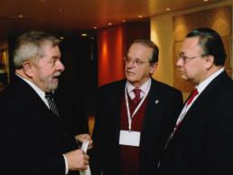Porto Alegre, Brasil, 2014. Presidente Inázio Lula da Silva, Gobernador Tarso Genro, Andrés Cardó