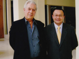 São Paulo, Brasil. Hotel Emiliano. Mario Vargas Llosa, Andrés Cardó